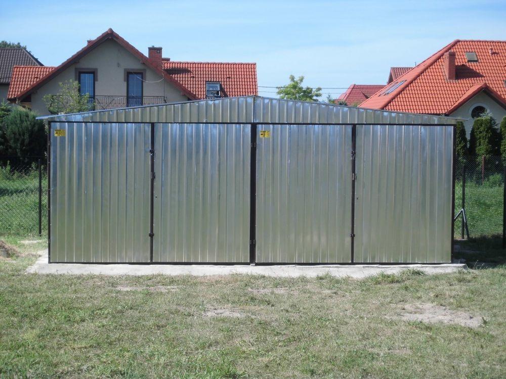 Polska Sp Garaż Blaszany Ocynkowany Dach Dwuspadowy